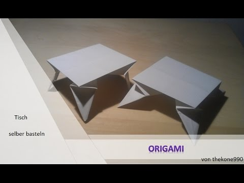 origami f r anf nger faltanleitung tisch youtube. Black Bedroom Furniture Sets. Home Design Ideas