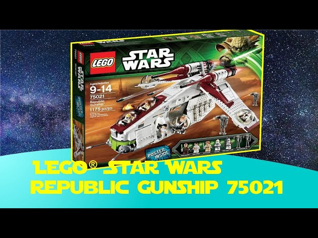Lego Star Wars Republic Gunship 75021 Clone Wars