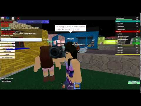 roblox adopt and raise a baby free boombox! - YouTube