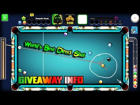 8 Ball Pool World's Best Direct Shot Ever! Deepak's Road Ep 35 - 100k Subs GIVEAWAY INFO-