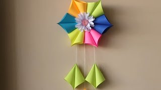 DIY Paper Wall Hanging craft ideas-Easy wall Decoration ideas