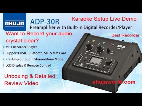 Ahuja ADP 30R Professional Recorder/MP3 Live Demo For Karaoke Setup And Recording. #Best Recorder
