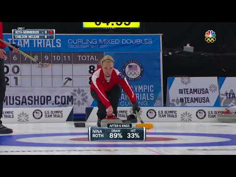 Olympic Mixed Doubles Curling Trials | Roth-Nernberger Score Four Points To Seal The Win Against Wal