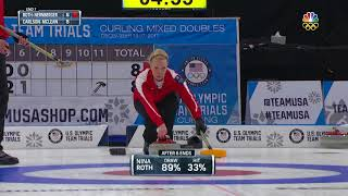 Olympic Mixed Doubles Curling Trials | Roth-Nernberger Score Four Points To Seal The Win Against Wal thumbnail