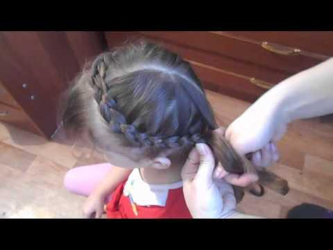 Очень красивая прическа Коса Корона на средние и длинные волосы♥