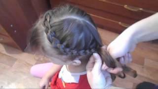 """Очень красивая прическа """"Коса Корона"""" на средние и длинные волосы♥"""