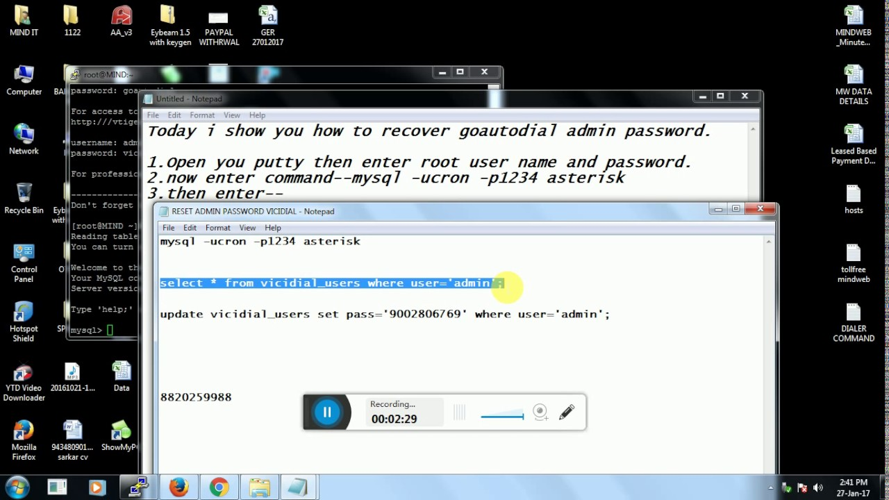 How to change Goutodial Admin Password