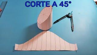 CORTE A 45° EN TUBERIA