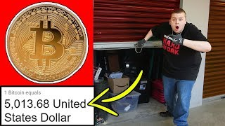 BITCOIN IN STORAGE UNIT! MADE SO MUCH MONEY! I Bought An Abandoned Storage Unit!