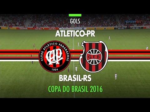 Gol - Atlético PR 1 x 0 Brasil RS - Copa do Brasil - 13/04/2016