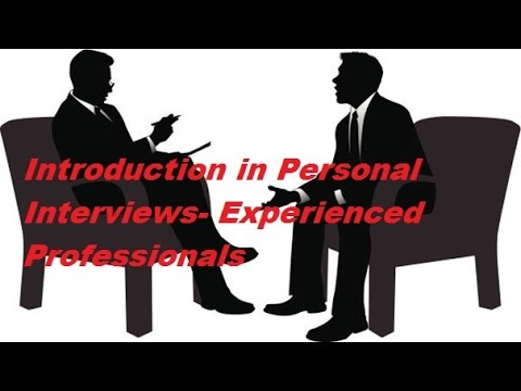 How to Introduce Yourself- For Experienced Professionals