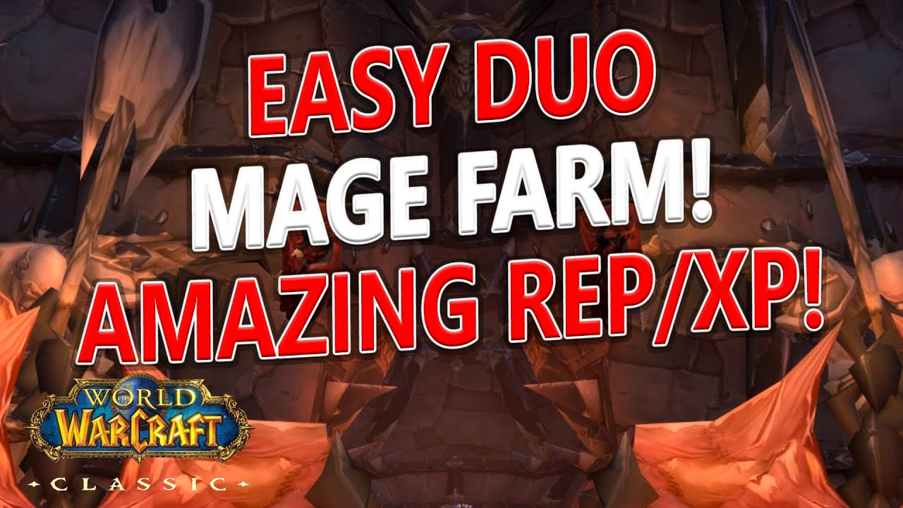 WoW Classic - NEW Duo Mage Shattered Halls Farm/Boost! 2k rep & 200k xp/hr!