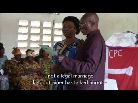 Widowhood Customs in Congo - Marriage Registration Campaign