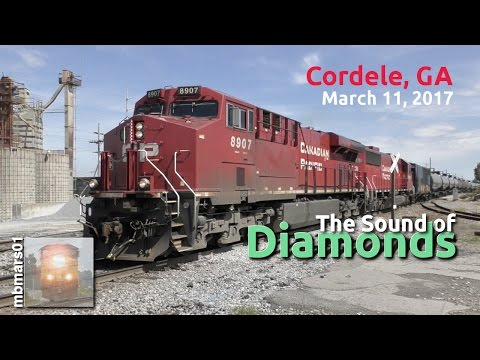 [4f] The Sound of Diamonds, Railfanning Cordele, GA, 03/11/2017 ©mbmars01