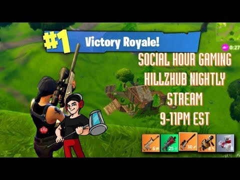 Social Hour Gaming: KILLZHUB|top builder on console|solo| (fortnite battle royal)