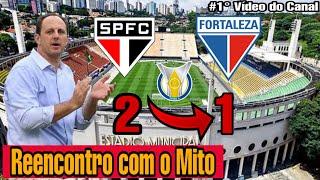 Gambar cover Festa da torcida Tricolor no Reencontro com o Mito | São Paulo 2 x 1 Fortaleza