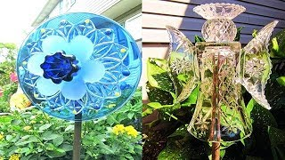 Top 50 Most Beautiful Glass Yard Art Ideas | Glass Art | Craft | Ideas | Flowers | Decorations