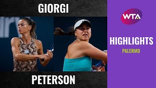 Camila Giorgi vs. Rebecca Peterson | 2020 Palermo First Round | WTA Highlights