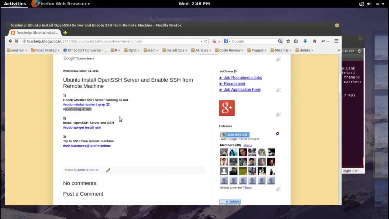 habilitar ssh ubuntu