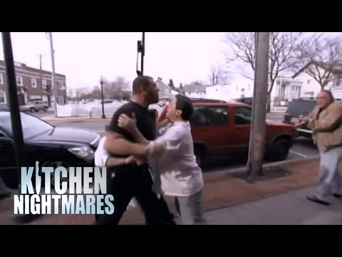 Owner Goes Absolutely Crazy at Debt Collector - Kitchen Nightmares