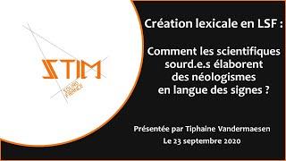 Conférence : Création lexicale scientifique en LSF