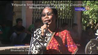 TUIPC-Executive member Mrs. Shamaria Debbarma @Mungia kami hati
