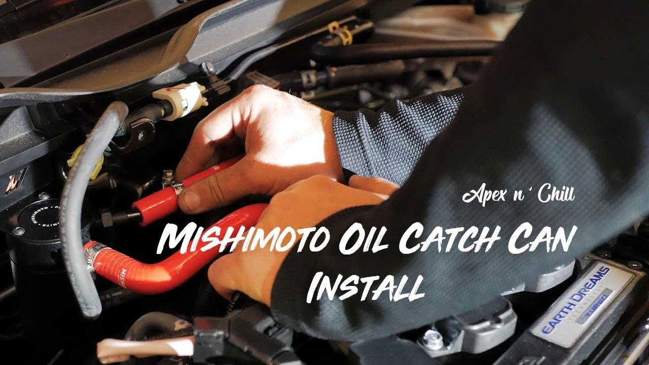 honda civic ext mishimoto oil catch  install youtube