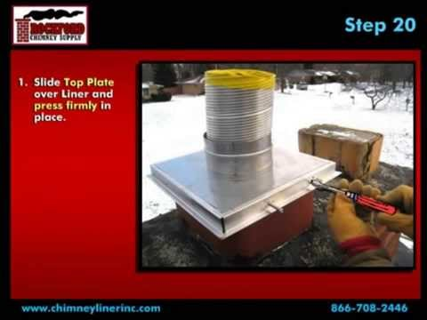 How To Install A Flexible Chimney Liner Kit With Blanket