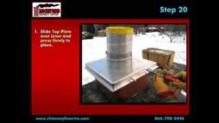How to Install a Flexible Chimney Liner Kit with Blanket Insulation