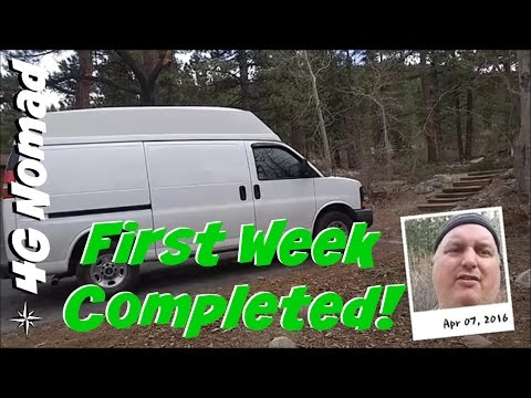 4G Van Life: Week 1 Completed