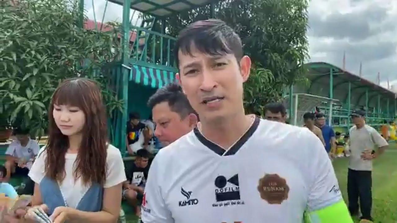 Diễn viên Huy Khánh |Trận cầu thiện nguyện quyên góp cho GĐ thầy Phụ ở  Bến Tre | RuNam Star United