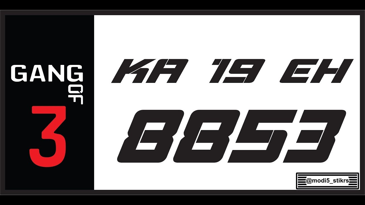 How To Design Bike Number Plates Coreldraw Coustom Number