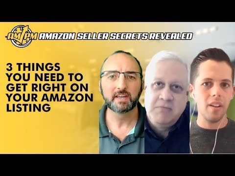 The 3 Things You Need to Get Right for an Optimized Amazon Listing