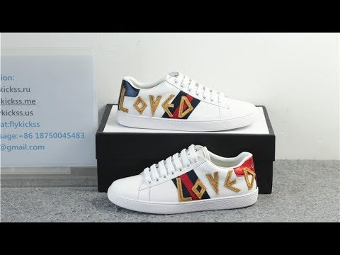 7b55da20359 GG Gucci Ace Embroidered Sneaker Low Top Loved HD Review - YouTube