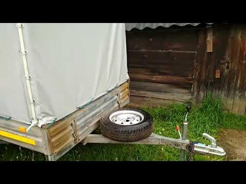 видео: Самодельное крепление запасного колеса для прицепа МЗСА.(Так делал на прицепе Трейлер).