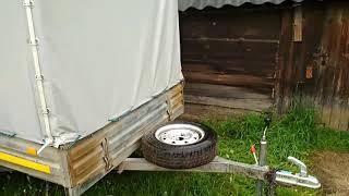 Самодельное крепление запасного колеса для прицепа МЗСА.(Так делал на прицепе Трейлер).