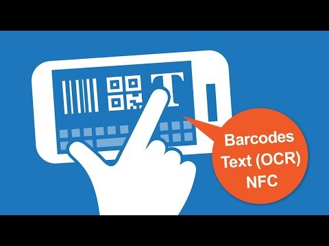 Android Keyboard With Scanners For Barcodes, QR Codes, Text (OCR) And NFC Tags