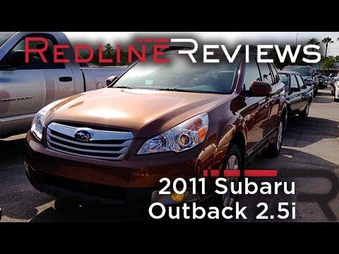 2011 Subaru Outback 2.5i Review, Walkaround, Start Up & Rev