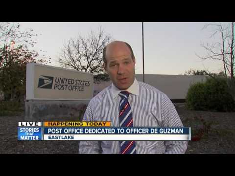 Post Office dedicated to fallen Officer John De Guzman
