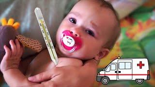 Дитина ЗАХВОРІЛА! Викликали швидку. Лікуємо застуду або вірус. З Мийчонком граємо в ляльки