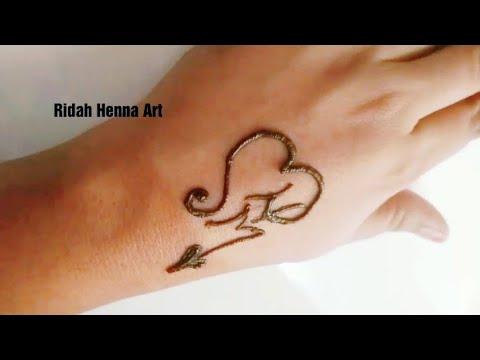 Alphabet Mehndi Design Alphabet M And Alphabet H Henna Tattoo