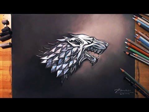왕좌의 게임 Game of Thrones - Sigil of House Stark (Dire wolf) | drawholic