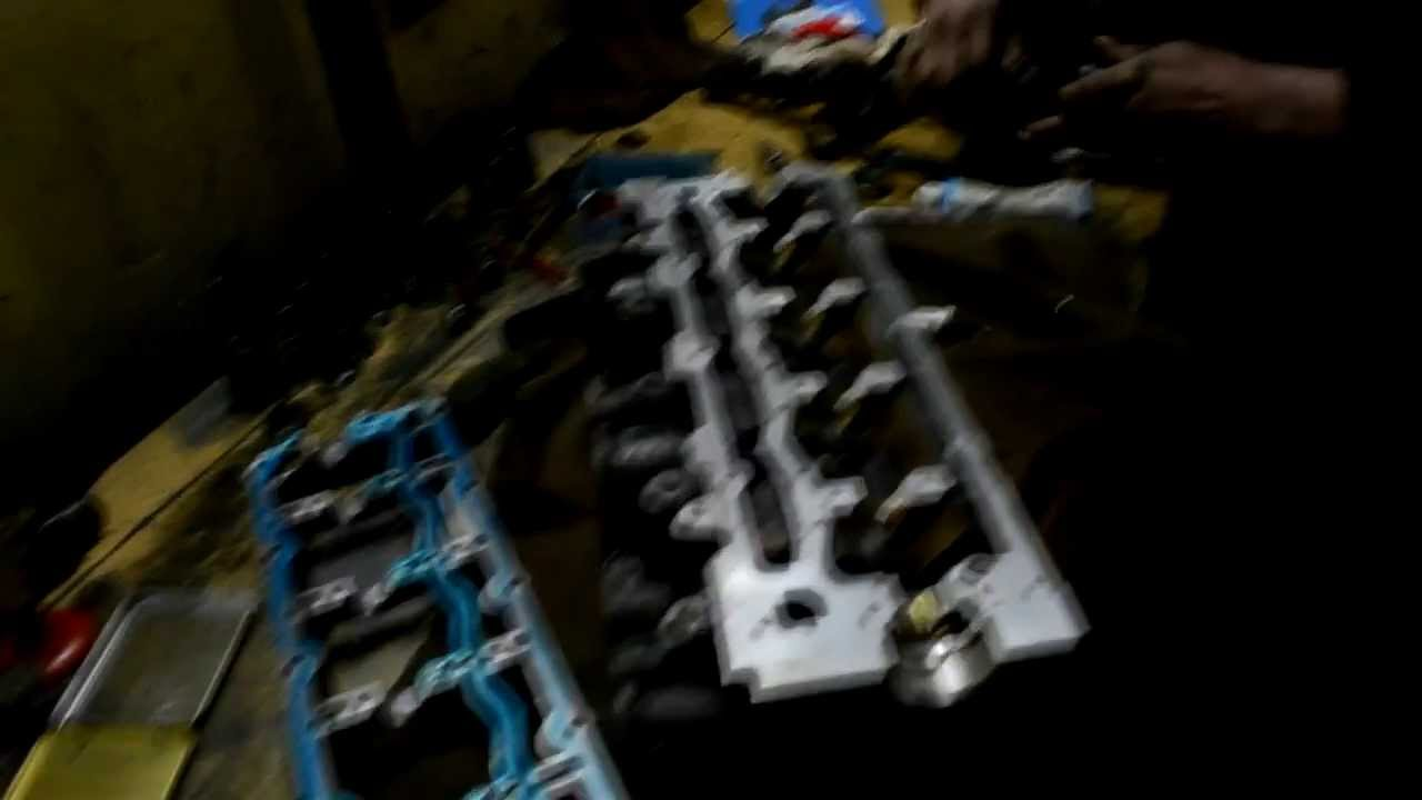 Сборка и установка головки блока цилиндров на Ровер