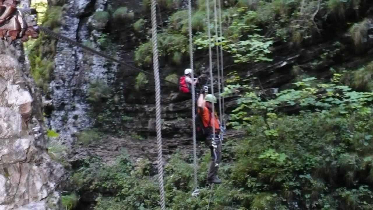 Klettersteig Postalmklamm : Postalmklamm klettersteig d youtube