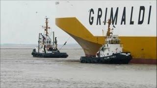 timelapse Grande Colonia IMO 9318527 GRIMALDI LINES Emden Autotransporter RoRo car carrier
