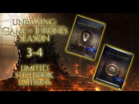 Unboxing - Game Of Thrones - Season 3 & 4 - Limited Steelbook Editions