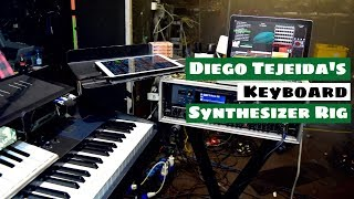 Diego Tejeida's Keyboard & Synthesizer Rig On Tour With HAKEN