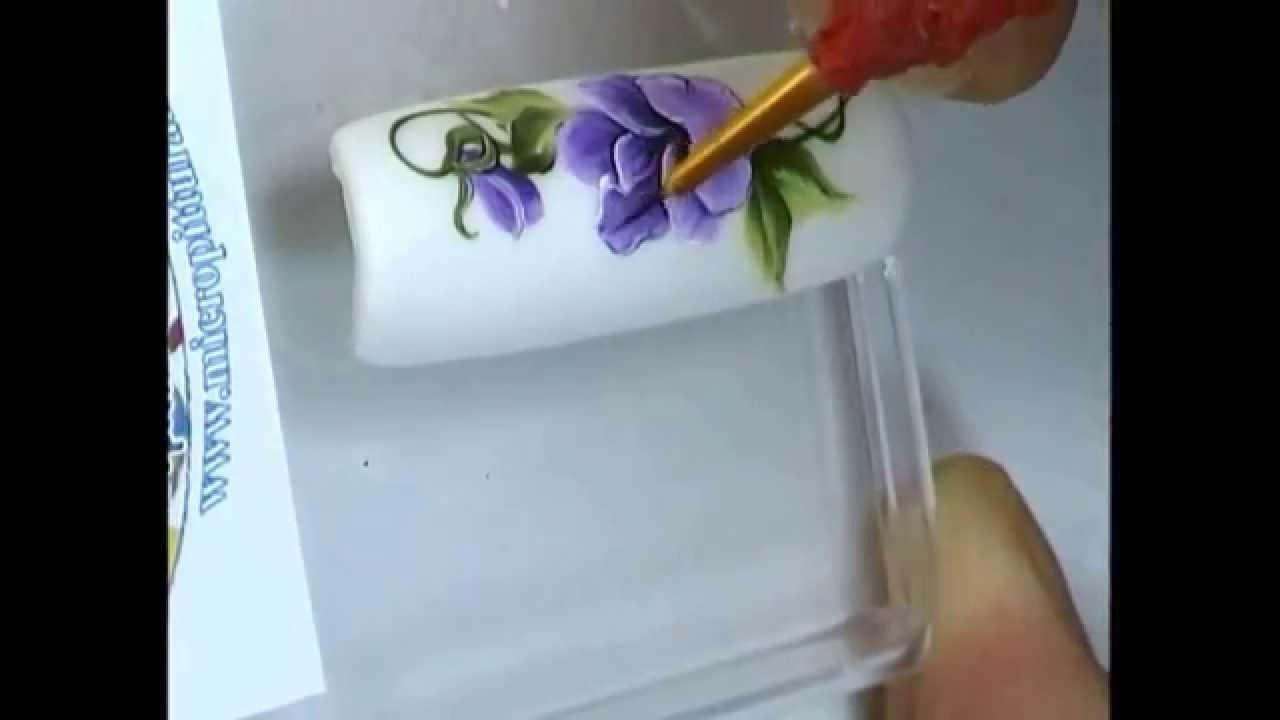 Tutorial nail art in micropittura violetta con colori acrilici tutorial nail art in micropittura violetta con colori acrilici morocolor youtube prinsesfo Gallery