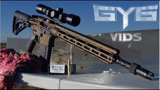 The Powerful 68spc Round vs MEAT  BONE  GY6 Ballistic Test 36
