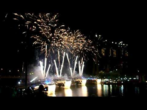 Opening of Singapore Helix Bridge